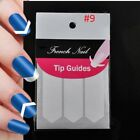 A:10 Sheets (480pc) French Manicure Nail Guide Sticker Art Tips Stencil freeGIFT