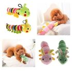 Pet Puppy Dog Chew Toys Cute Caterpillar Dog Squeaker Squeaky Plush Sound Toy