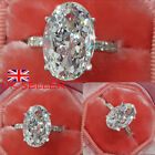 Uk Womens Ladies Crystal Rhinestone Rings Wedding Engagement Ring Jewelry Gifts