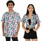 Flirty Flamingo Mens & Ladies Matching Hawaiian Shirts Couple Set