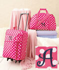 3 Pc Girls Kids LUGGAGE MONOGRAM ROLLING SUITCASE DUFFEL BAG CLUTCH in 7 LETTERS
