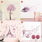 Pink Fairy Floral Butterfly Bedroom Wall Sticker Art Decal Home Living Room Deco
