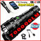 Outdoor High Light Mulfuntion Flashlight XM-L L2 LED Torch Phone USB Charging