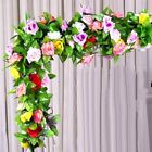 8Ft Artificial Fake Silk Rose Flower Ivy Vine Garland Wedding Party Home Deco 4W