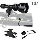 850nm IR Infrared Light Zoomable Flashlight Nigt Vision Hunting Torch Waterproof
