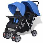 Tandem Pushchair Stroller Double Baby Buggy Twin Pram Toddler Stroller Durable