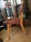 Authentic Period Mid Century Modern 666 Chair KNOLL Jens Risom Leather Maple