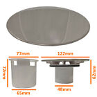 STAINLESS STEEL Shower Drain Waste Replacement Cap 115mm w/ Optional Tube & Cup
