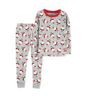 Carters Christmas Baby Boy 2 piece Cotton Pajama Set Santa or Reindeer New