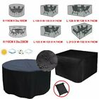 Black Waterproof Outdoor Garden Furniture Cover Round Rectangle Square Table