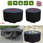 4/6 Seater Round Waterproof Outdoor Garden Bbq Table Furniture Circular Cover