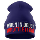 Motorbike Gifts for Men - Throttle It out - Funny Beanie Hat Motorcycle Bike B30