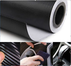 "50""/60"" Wide Roll Black Carbon Fiber Vinyl Decal Dual cast Film For Vehicles image"