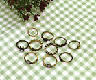10 x Elegant Ethnic Bohemian Boho Ring Hollow Geometric Moon Elephant Joint Set