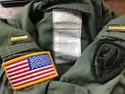 US Military Nomex Flyers Flight Suit Coveralls Nomex Sage CWU-27P USAF W PATCHES
