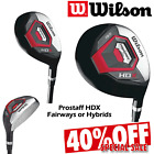 WILSON PROSTAFF HDX WOODS AND HYBRIDS MENS GOLF CLUBS NEW 2019 #3 #4 OR 3 WOOD