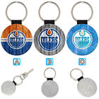Edmonton Oilers Leather Glitter Key Chain Ring Gift Silver Car $3.99 USD on eBay