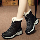 Women's Snow Boots Lace up Winter Waterproof Plus Velvet High Sport Shoes Hot