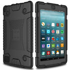 For Amazon Kindle Fire HD 8/Fire 7 Soft Tablet Case Cover+Glass Screen Protector