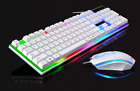 FR Wired Gaming Gamer Keyboard & Mouse Set Combo LED Backlight For PC Laptop USB