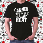 Canned Heat Rock Band Logo Men's Black T-Shirt Size S to 3XL image