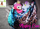 MONKEY PAK - Finger Monkey compatible carrying CASE - SEQUIN PINK AND BLUE - - -