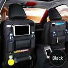 Car Back Seat Protector Leather Organizer Phone Tablet Holder Pocket Storage Bag