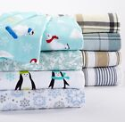 Standard  Flannel %100 Cotton Sturdy Pillowcases  set of 2 Holiday Favorites image