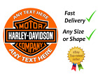 Harley Davidson cake topper edible icing or Wafer personalised £3.99 GBP on eBay
