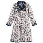 Catalog Classics Women's Reversible Floral Jacquard Coat - Button Front Jacket