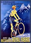 Cycles Royal Fabric1920 Vintage Poster Print Retro Style Bicycle Art Wall Decor