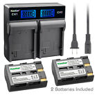 Kastar Battery LCD Rapid Charger for Sigma BP-21 Sigma SD1 SD1 Merrill SD14 SD15