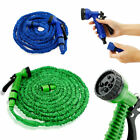 Deluxe 25 50 Feet Expandable Flexible Garden Water Hose w Spray Nozzle US Seller