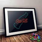 Coca Cola Neon Poster A3 A4 Retro Bar Signs Cafe Signs Retro Bar Art £3.99  on eBay