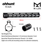 "Ohhunt 7"" 9"" 10"" 12"" 13.5"" 15"" 17"" Free Float M-LOK Handguard Rail W/ Steel NutScope Mounts & Accessories - 52510"