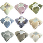 Super Soft Warm Solid Warm Micro Plush Fleece Blanket Throw Rug Sofa Bed Travel image