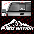MOUNTAIN LIFE Die Cut Vinyl Decal for Ford F-150 F150 Nation Pickup Truck RC126