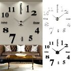3D Wall Clock Mirror Sticker Big Watch Sticker Home Unique DIY Novelty Decor