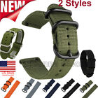 18/20/22/24mm Nylon Fabric Canvas Wrist Watch Band Strap Military Classic Buckle image