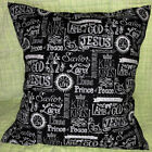 Christian King of Kings Black White Religious Bible Handcrafted Pillow Cover