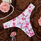 Rose Cotton G String Leopard Thongs Low Waist Sexy T Panties Flower Briefs