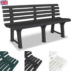 Garden Patio Bench Chair Seat Outdoor Furniture Weather Resistant Multi Colors