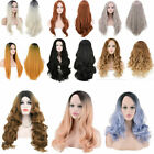 Fashion Women Long Straight Synthetic Lace Front Wig Middle Split Full Hair Wig
