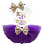 It's My 2nd Birthday Sets Baby Girl Tutu Cake Dress Outfit Party Clothes
