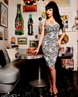 Deadly Dames Womens Vintage Pinup Style Zebra Dress