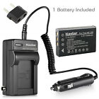 Kastar Battery AC Charger for TOSHIBA NP-120 PX1657 & FUJIFILM NP-120 NP120
