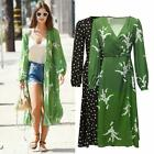 The Violette Summer Long Bell Sleeves Loving Green Womens Midi Dress