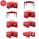 Gazebo Marquee Party Tent Waterproof Garden Patio Pop Up or Standard Canopy Red