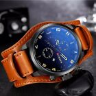 Curren 8225 Army Military Quartz Mens Watches Luxury Leather Men Watch image