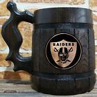 Oakland Raiders Wooden Beer Mug, American Football, Custom Beer Gift for Men $31.99 USD on eBay
